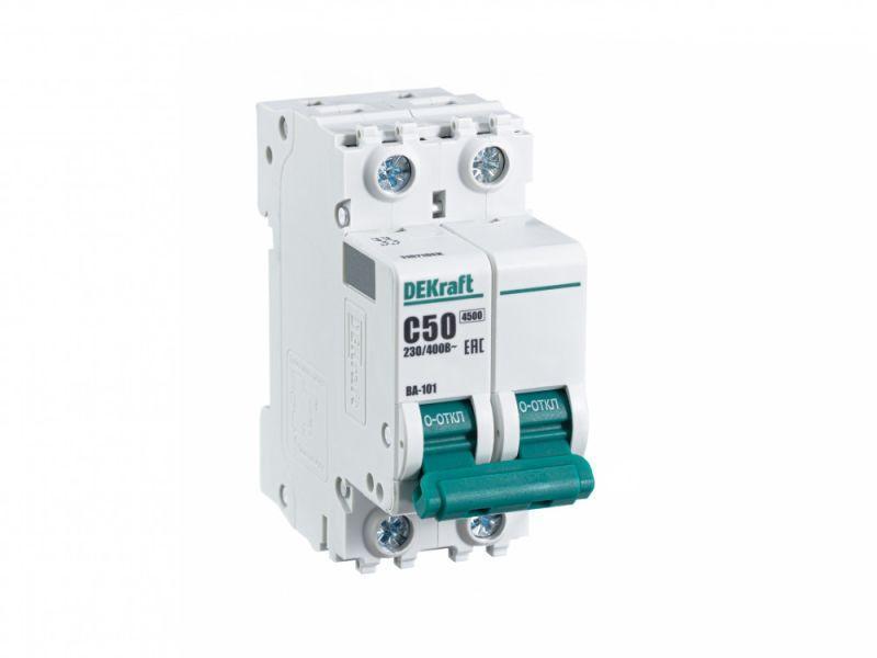 Выключатель автоматический модульный 2п C 50А 4.5кА ВА-101 SchE 11071DEK