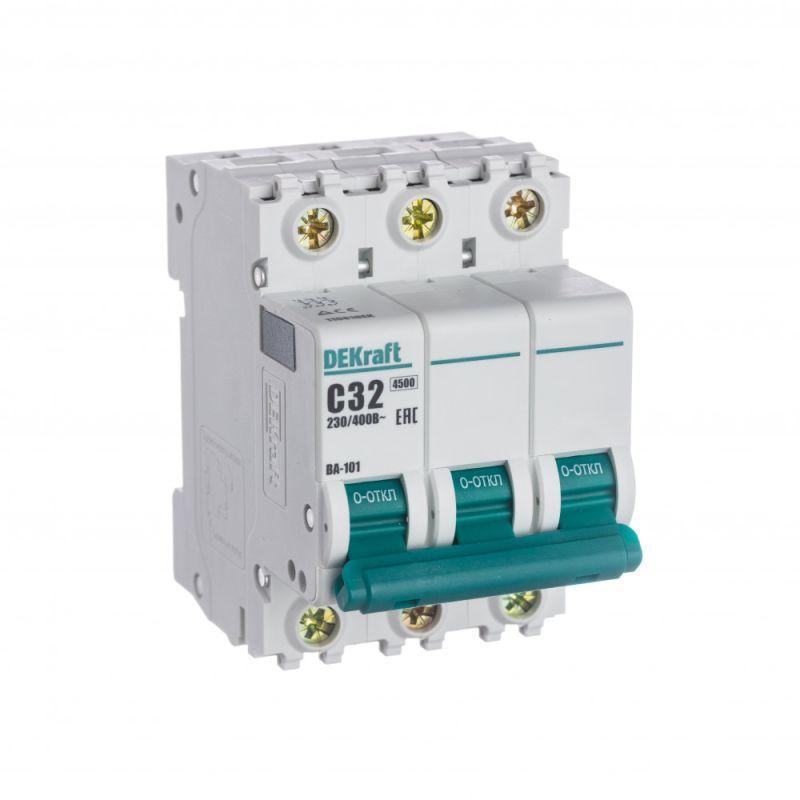 Выключатель автоматический модульный 3п C 32А 4.5кА ВА-101 SchE 11081DEK