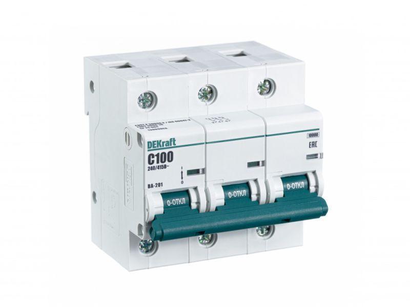 Выключатель автоматический модульный 3п C 100А 10кА ВА-201 SchE 13009DEK