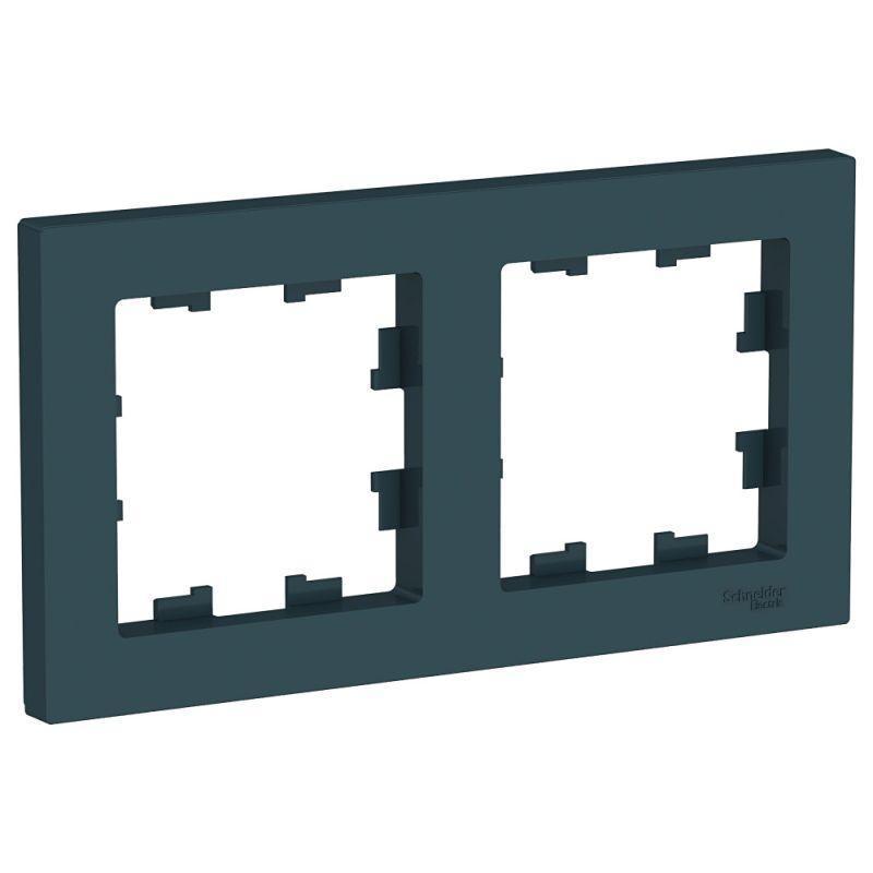 Рамка 2-м AtlasDesign универс. изумруд SchE ATN000802