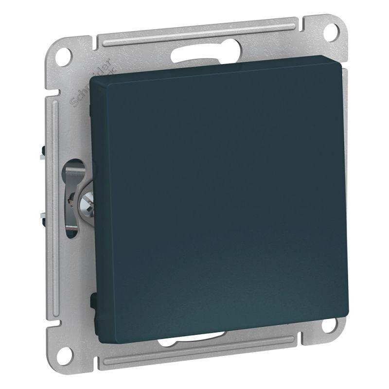 Механизм выключателя 1-кл. СП AtlasDesign 10А IP20 (сх. 1) 10AX изумруд SchE ATN000811