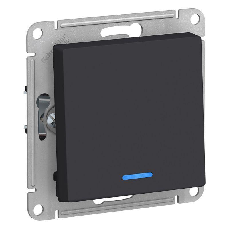 Механизм выключателя 1-кл. СП AtlasDesign 10А IP20 (сх. 1а) 10AX с подсветкой карбон SchE ATN001013