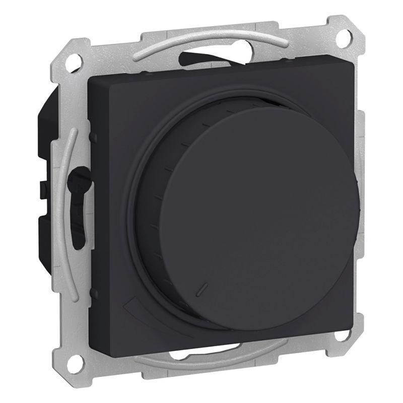Механизм светорегулятора поворотно-нажимного AtlasDesign 315Вт карбон SchE ATN001034