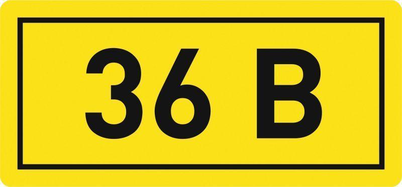 Наклейка 36В; 10х15мм EKF an-2-04