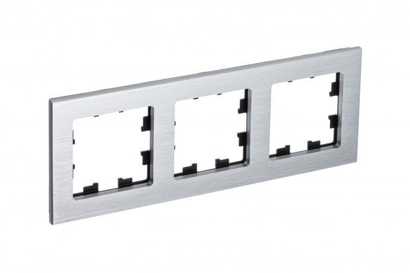 Рамка 3-м AtlasDesign Nature металл серебр. SchE ATN312103
