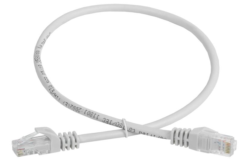 Патч-корд кат.5е UTP 0.5м сер. GENERICA ITK PC01-C5EU-05M-G