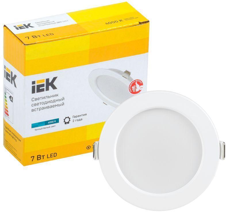 Светильник светодиодный ДВО 1611 7Вт 4000К IP20 круг бел. IEK LDVO0-1611-07-4000-K01