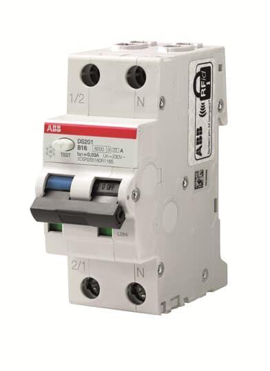 Выключатель автоматический дифференциального тока DS201 C16 AC30 16А 30мА ABB 2CSR255080R1164