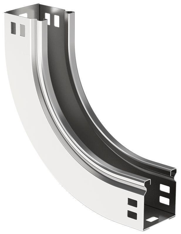 Угол для лотка плавн. 90град. 50х50мм тип В10 ESCA IEK CPV51-0-90-050-050