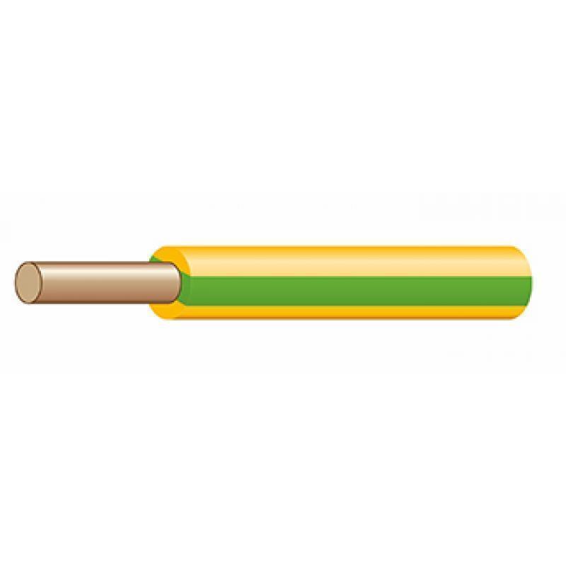 Провод ПуВнг(А)-LS 1х1 Ж/З 450/750В (бухта) (м) ЭЛЕКТРОКАБЕЛЬ НН 00-00004672