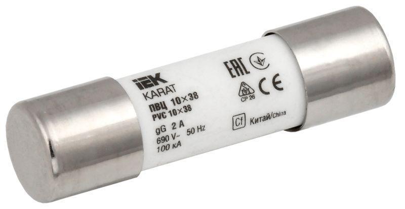 Вставка плавкая цилиндрическая ПВЦ 10х38 2А KARAT IEK MFL10-002