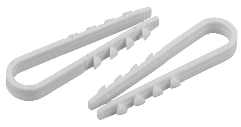 Дюбель-хомут для круглого кабеля 5-10мм бел. (уп.10шт) ЭРА Б0045087