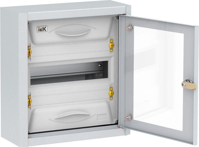 Корпус металлический ЩРн-12 УХЛ3 IP31 прозр. дверь TITAN 5 IEK MKM16-N-012-31-Z-U