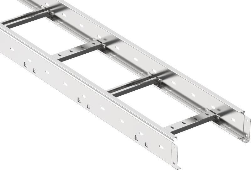 Лоток лестничный 55х200 L3000 сталь 1.2мм LESTA IEK CLM40-055-200-3-120