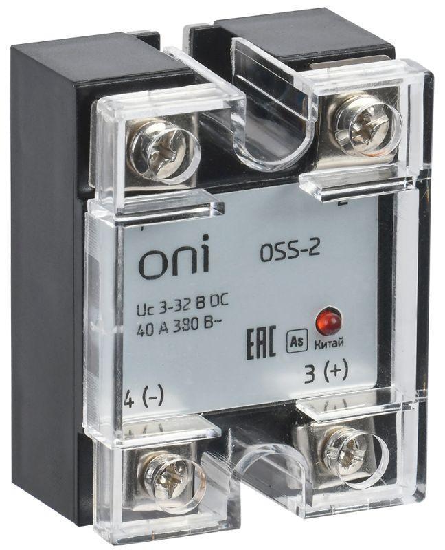 Реле твердотельное OSS-2 40А 380В AC 3-32В DC ONI OSS-2-3-40-B