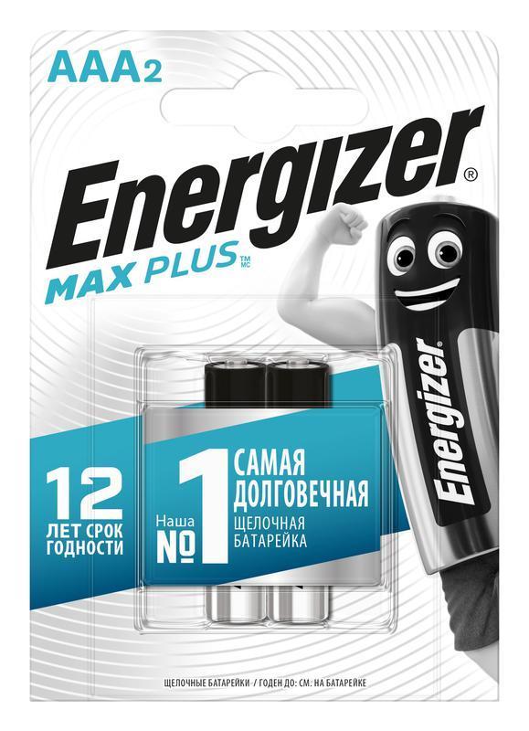 Элемент питания алкалиновый Max Plus LR03/286 BL2 (2/24) (блист.2шт) Energizer E301306503