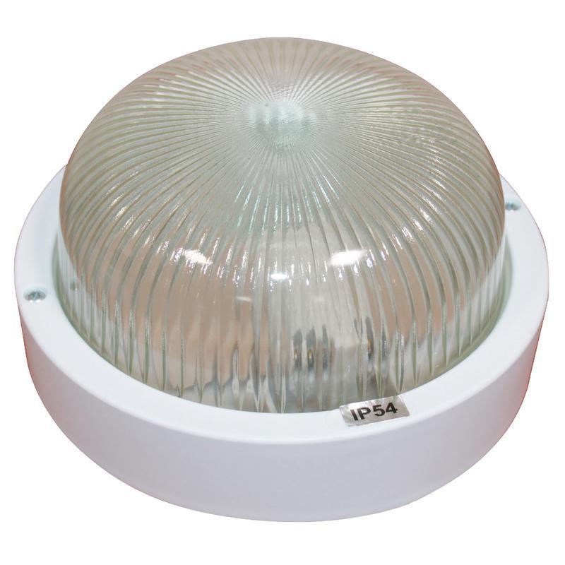 Светильник Банник; 1301 круг малый НПП 03-60-013 IP54 бел. пласт. Элетех 1005500879