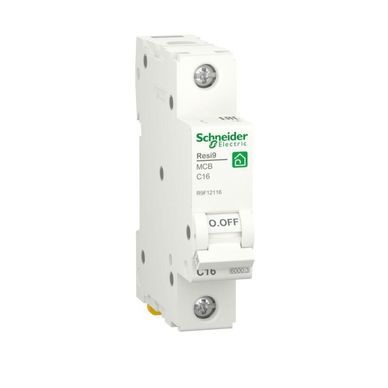 Выключатель автоматический RESI9 (АВ) С 16А 1P 6000А SchE R9F12116