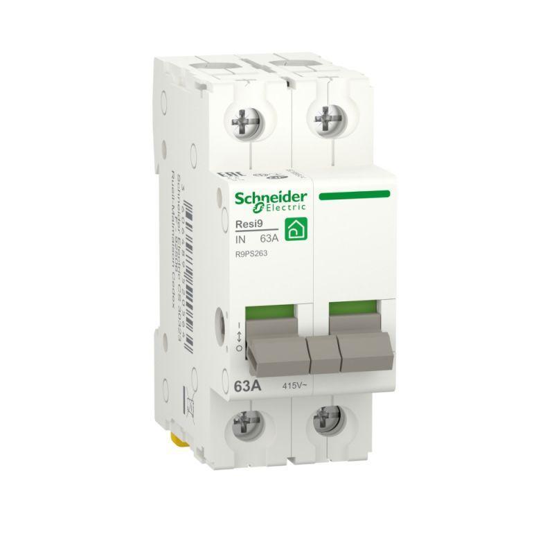 Выключатель нагрузки RESI9 (мод. рубильник) 63А 2P SchE R9PS263