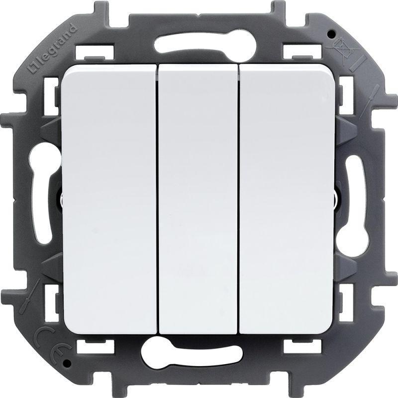 Механизм выключателя 3-кл. Inspiria 20А IP20 250В 10AX бел. Leg 673640