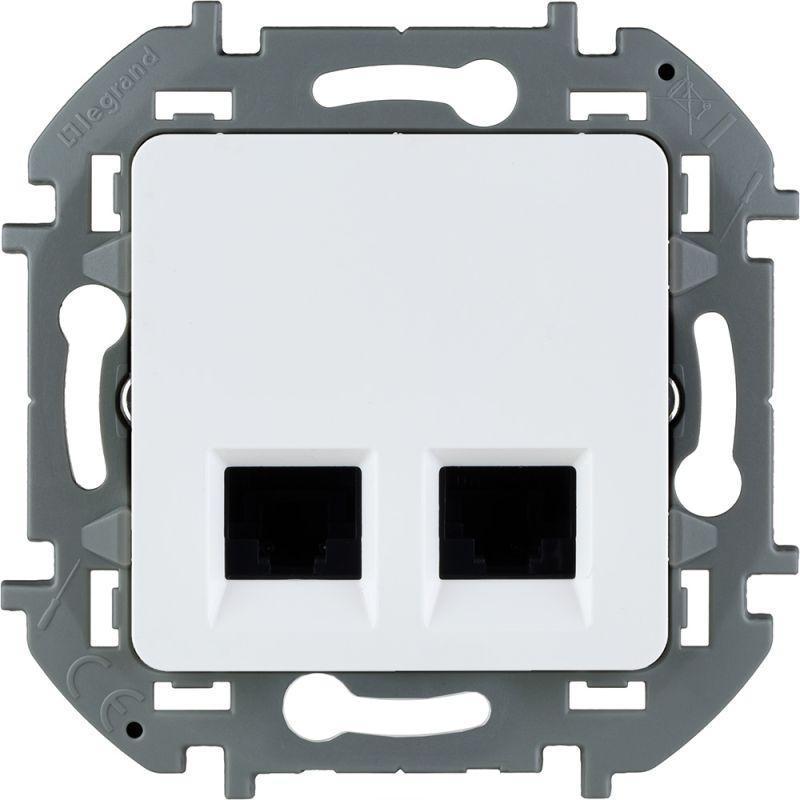 Механизм розетки компьютерной RJ45 2-м Inspiria CAT.6 UTP бел. Leg 673840