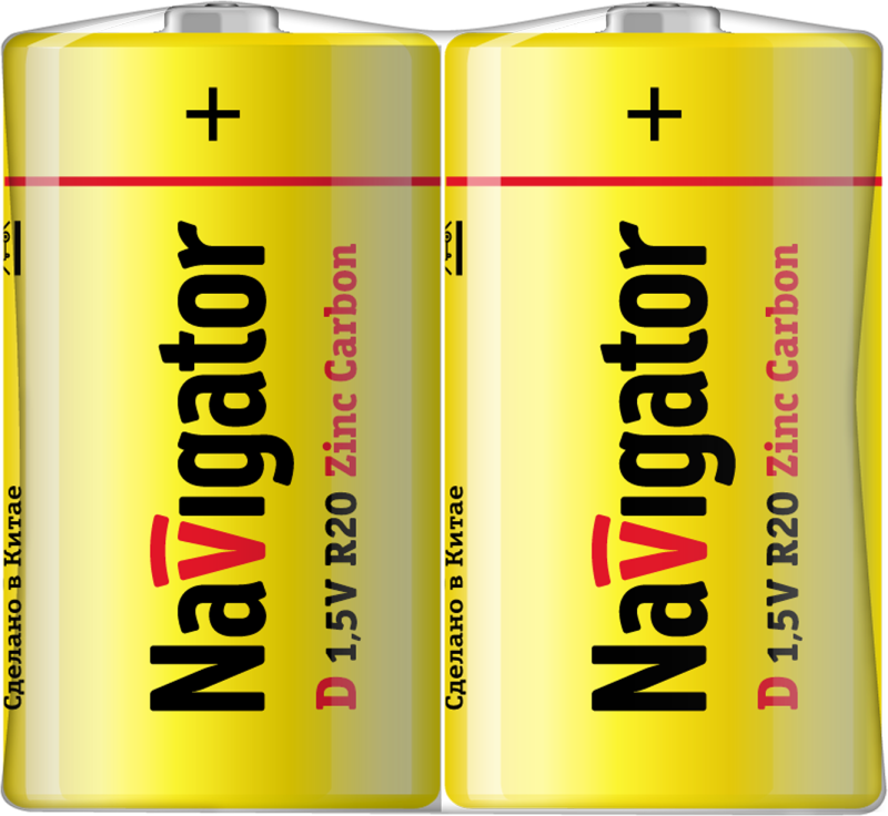 Элемент питания солевой 94 761 NBT-NS-R20-SH2 (шринка 2шт) Navigator 94761