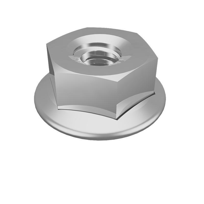 Гайка специальная с фланцем М8 DIN6923 GS8 сталь (уп.150шт) КМ LO0686