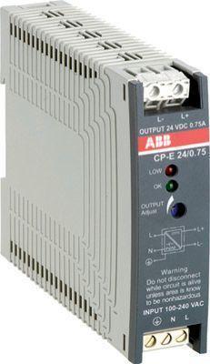 Блок питания CP-E 24/0.75 вх. 90-265В AC/120-370В DC вых. 24В DC/0.75А ABB 1SVR427030R0000
