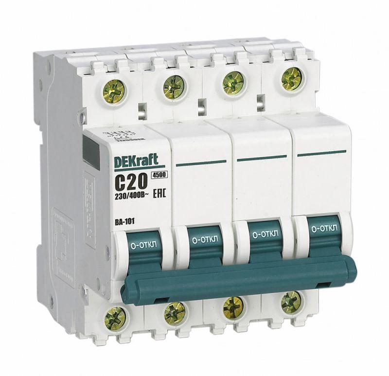 Выключатель автоматический модульный 4п C 25А 4.5кА ВА-101 SchE 11092DEK