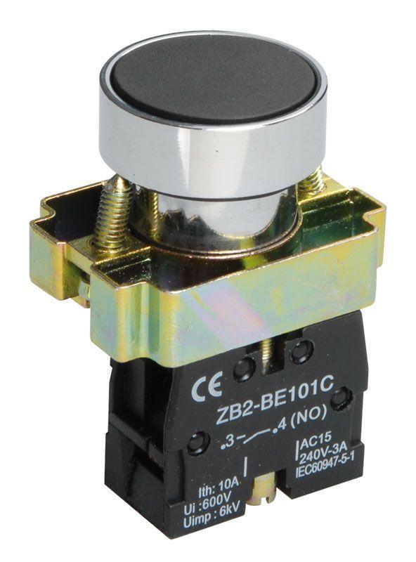 Кнопка LAY5-BA21 без подсветки черн. 1з IEK BBT60-BA-K02