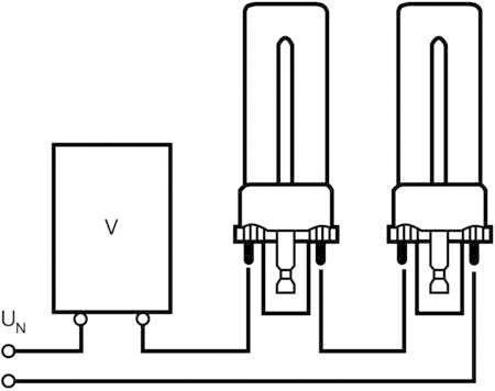 Лампа люминесцентная компакт. DULUX S 9W/830 G23 OSRAM 4050300025742
