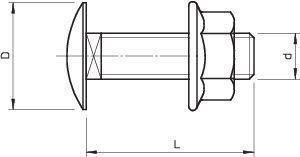 Комплект креп. M6х12 FRSB 6х12 F (болт плос/гол.+гайка с насеч.) OBO 6406122