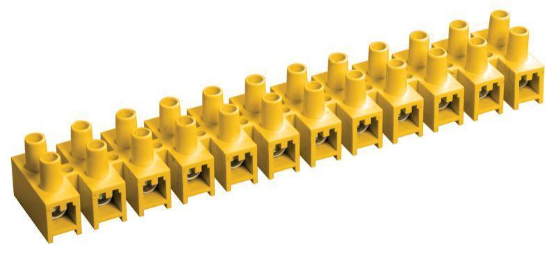 Зажим винтовой ЗВИ-15 н/г 4.0-10кв.мм 12пар желт. IEK UZV7-015-06