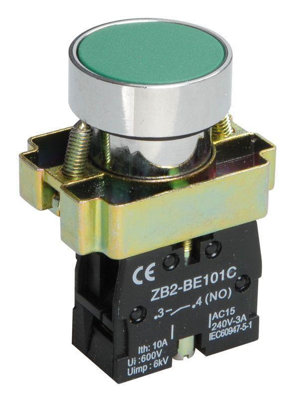 Кнопка LAY5-BA31 без подсветки зел. 1з IEK BBT60-BA-K06